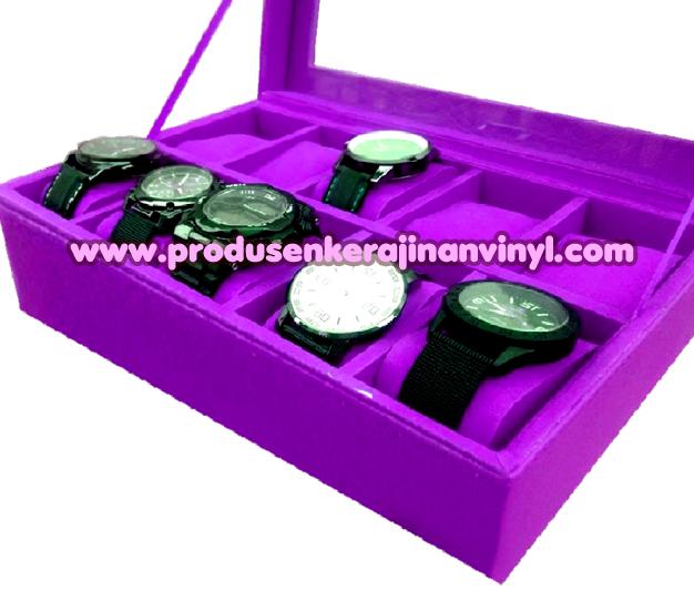 Kerajinan Box Jam 10 Pcs Warna Ungu