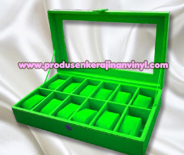 jual bahan vinyl untuk tas kerajinan box jam 12 pcs warna hijau pusat kerajinan jogja