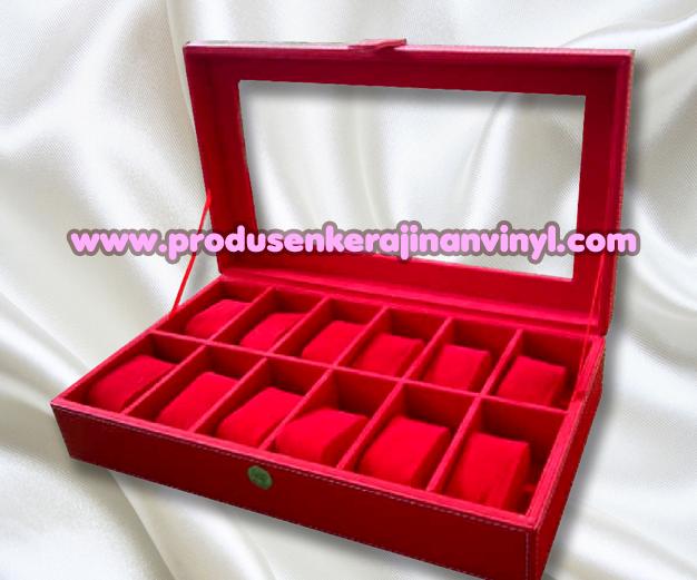 Kerajinan Box Jam 12 Pcs Warna Merah