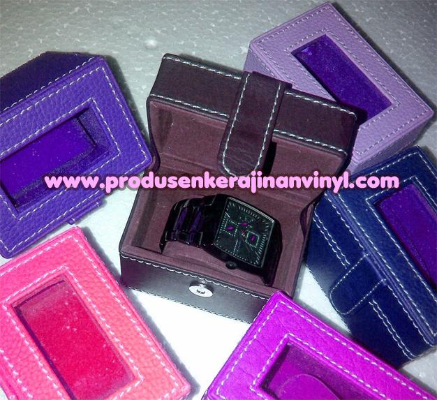 Kerajinan Box Jam Tangan Satuan 1 Pcs Warna Ungu