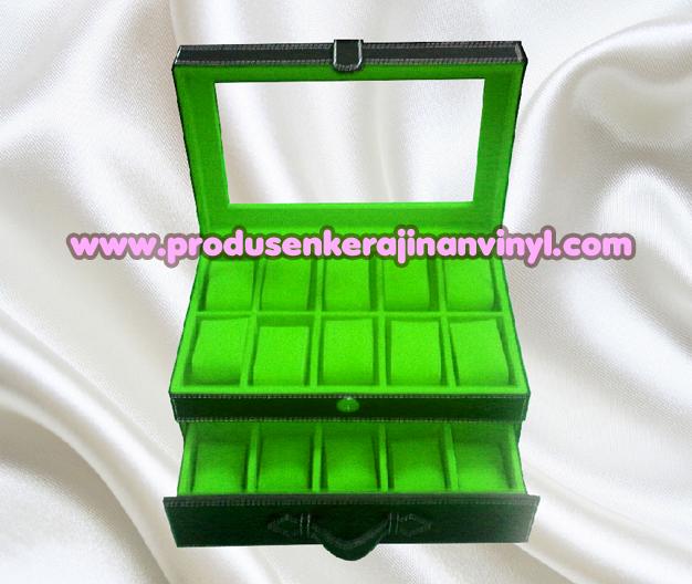 Kerajinan Box Jam Isi 20 Pcs Warna Hitam Kombinasi Hijau