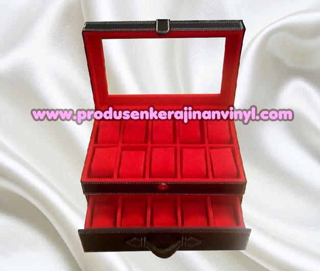 Kerajinan Box Jam Isi 20 Pcs Warna Hitam Kombinasi Merah