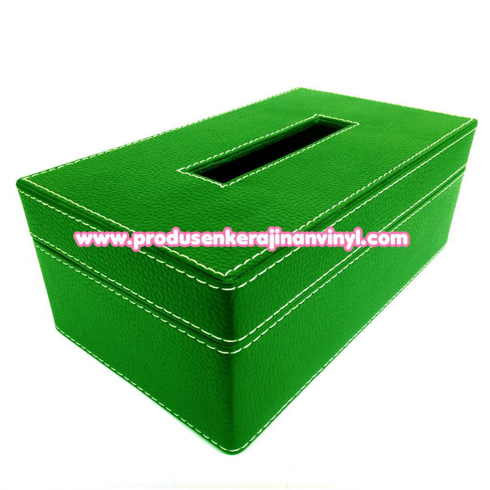 pengrajin vinyl kerajinan box tisu besar warna hijau muda harga tas anyaman murah