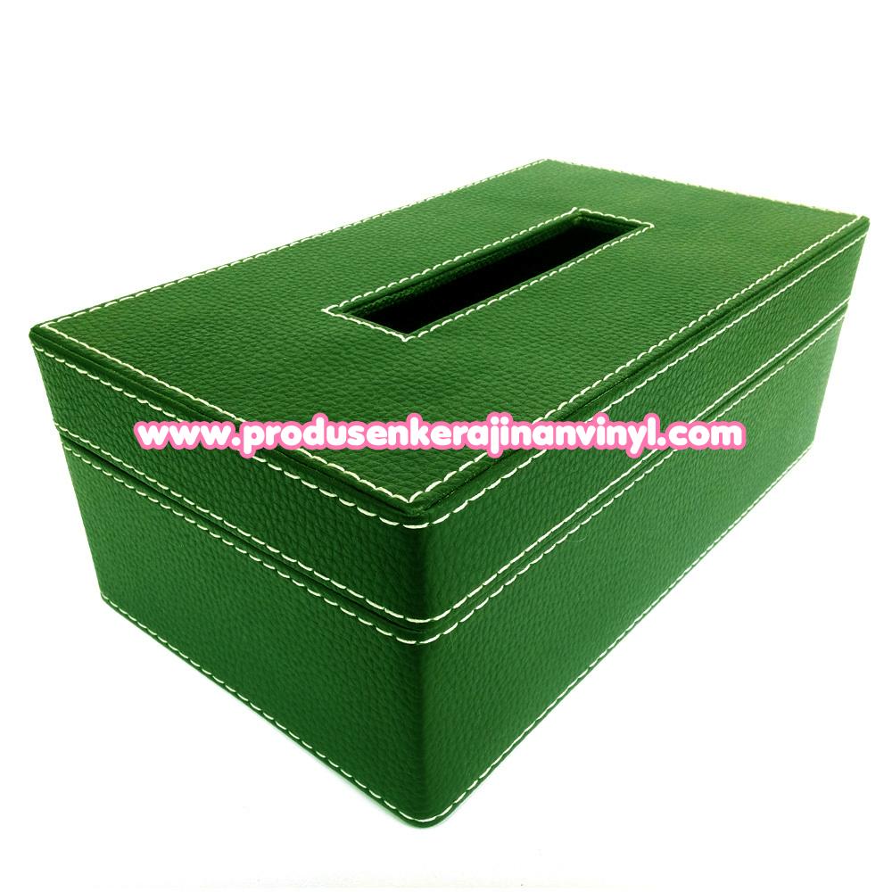 Kerajinan Box Tisu Besar Warna Hijautua
