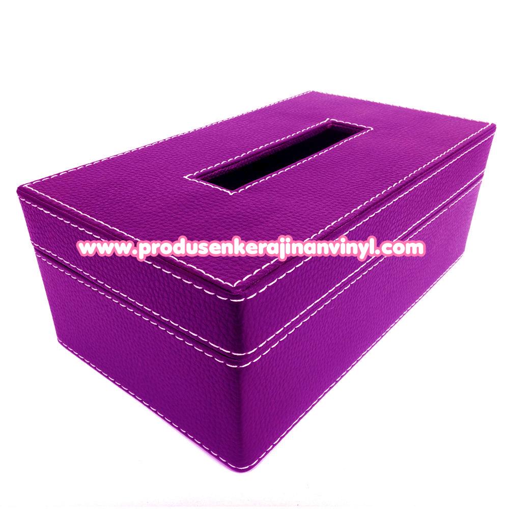 menghias toples kue kerajinan box tisu besar warna ungu kerajinan tangan yogyakarta