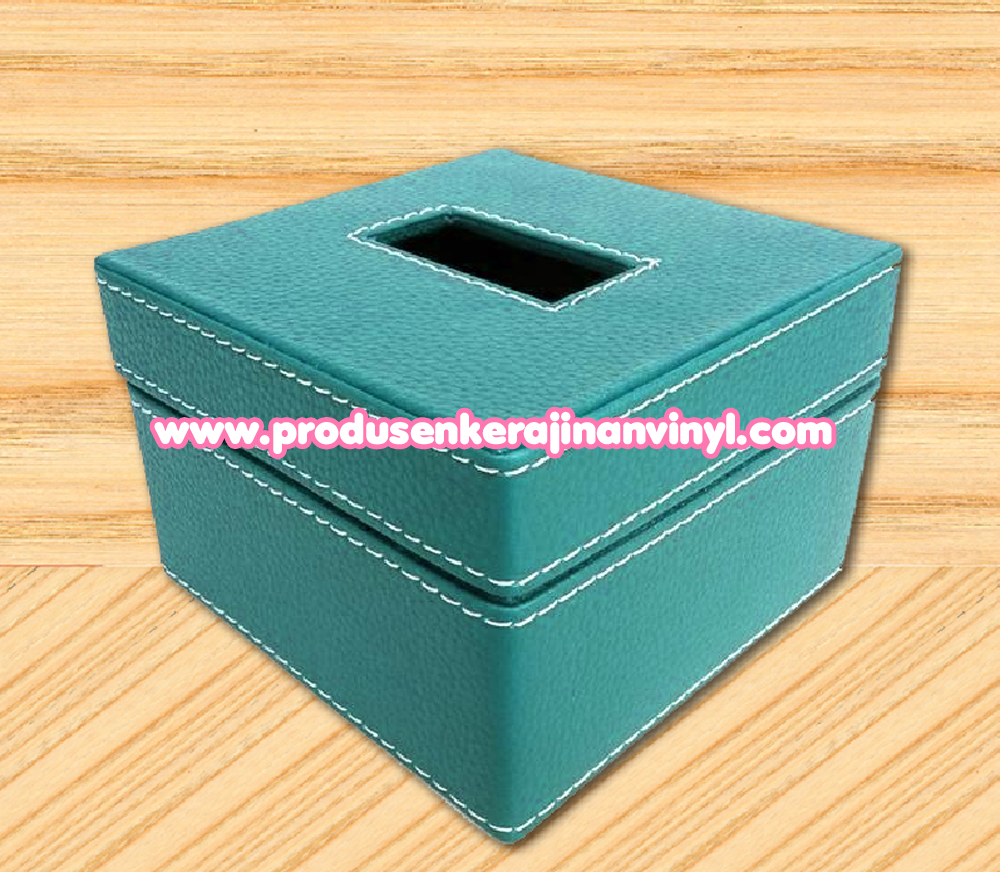 Kerajinan Box Tisu Kecil Warna Biru Muda