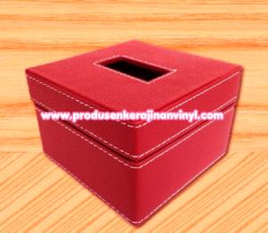 kerajinan-box-tisu-kecil-warna-merah