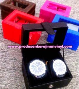 kerajinan-kotak-jam-tangan-2-couple-hitam-merah-b-iru-coklat-dan-pink