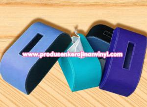 kerajinan-vinyl-box-tisu-rounded-biru
