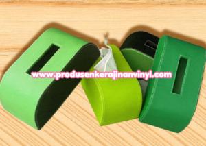 kerajinan-vinyl-box-tisu-rounded-hijau