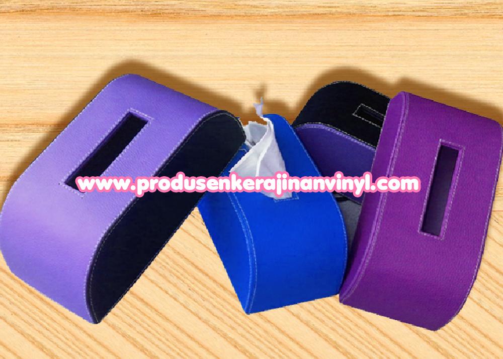toples unik murah kerajinan vinyl box tisu rounded ungu kerajinan tangan paling mudah