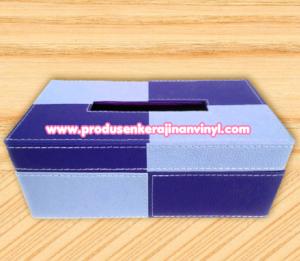 kerajinan-vinyl-kotak-tisu-dua-warna-biru