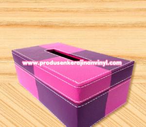 kerajinan-vinyl-kotak-tisu-dua-warna-ungu-pink