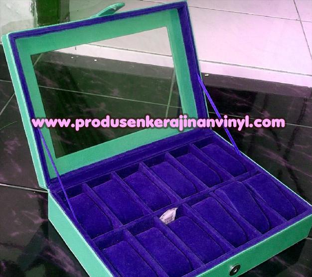 kerajinan-vinyl-box-jam-12-pcs-lusinan-biru-tua-dan-tosca