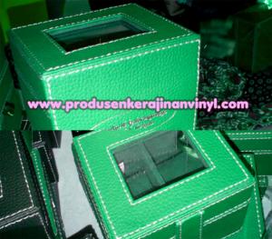 kerajinan-vinyl-box-jam-hijau