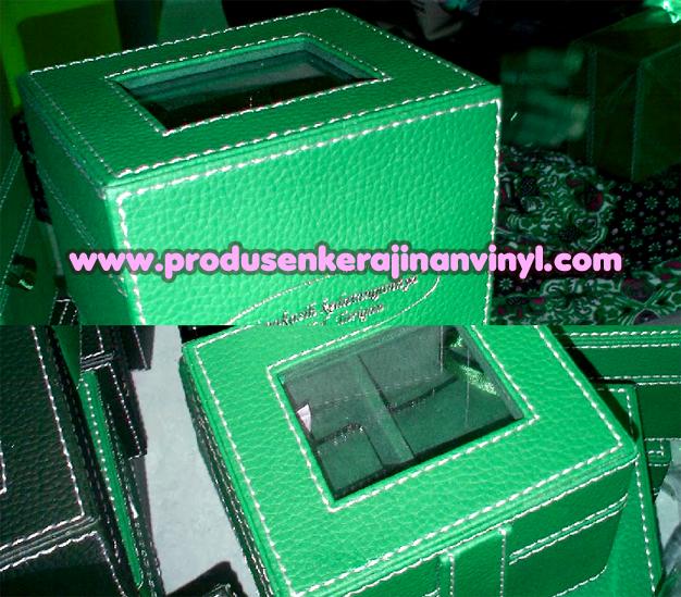 Kerajinan Vinyl Box Jam Hijau