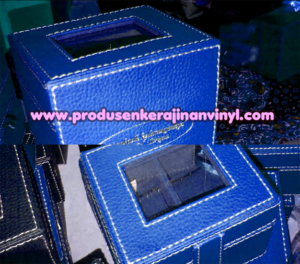 kerajinan-vinyl-box-jam-kecil-biru