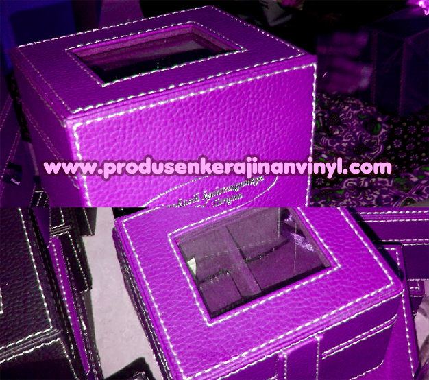 Kerajinan Vinyl Box Jam Ungu