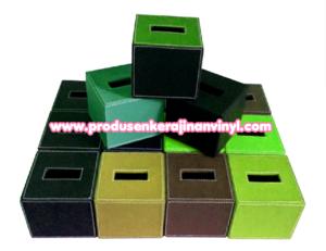 souvenir-kerajinan-box-tisu-kecil-aneka-warna-hijau