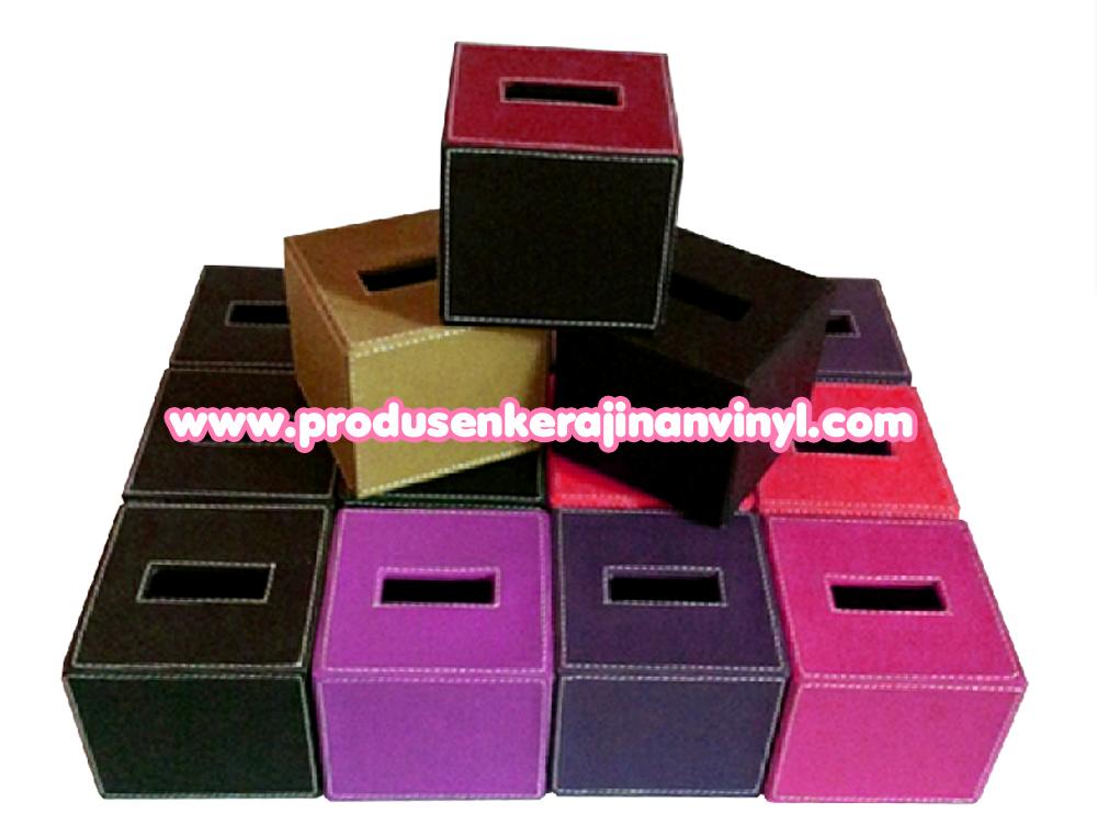 toples kulit set souvenir kerajinan box tisu kecil aneka warna ungu jual kerajinan eceng gondok