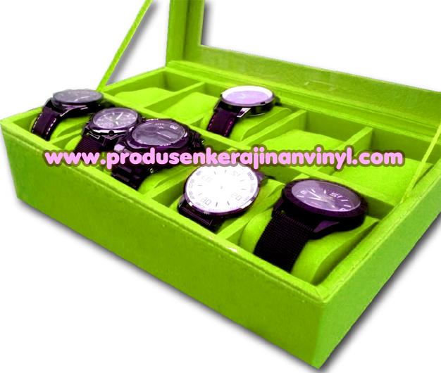 Kerajinan Box Jam 10 Pcs Warna Hijau Muda