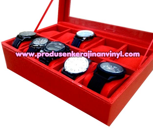 Kerajinan Box Jam 10 Pcs Warna Merah