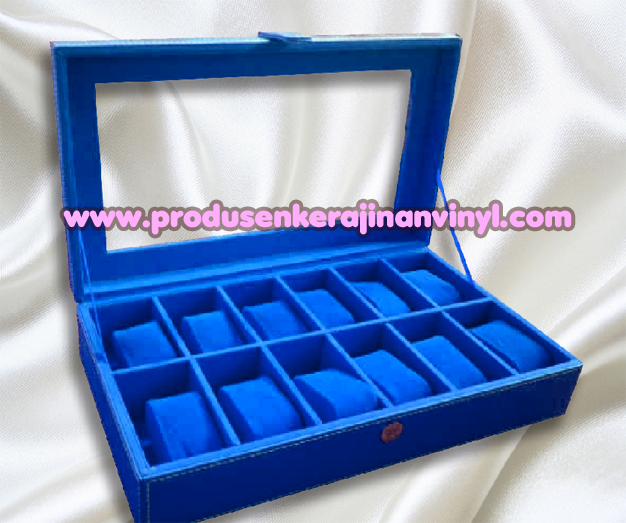 Kerajinan Box Jam 12 Pcs Warna Biru