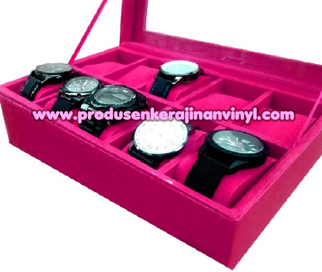 Kerajinan Box Jam 12 Pcs Warna Merah Fanta