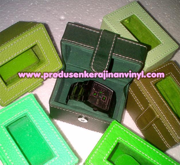 Kerajinan Box Jam Tangan Satuan 1 Pcs Warna Hijau