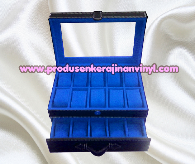 Kerajinan Box Jam Isi 20 Pcs Warna Hitam Kombinasi Biru