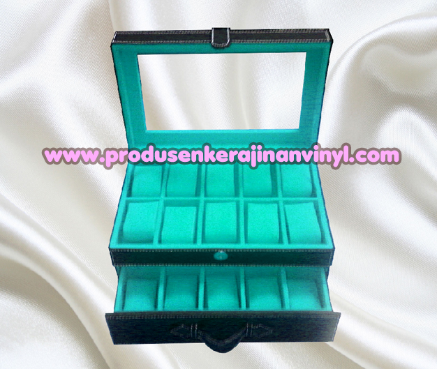 Kerajinan Box Jam Isi 20 Pcs Warna Hitam Kombinasi Tosca