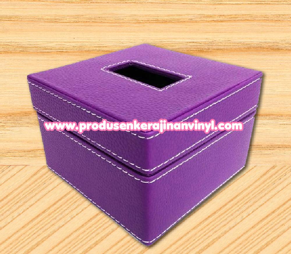 Kerajinan Box Tisu Kecil Warna Ungu